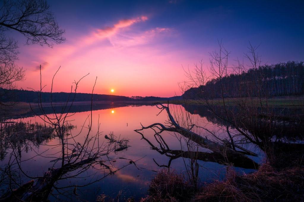 Gródek nad Dunajcem zachód słońca